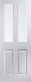 White Primed 2 Light Etched - Woodgrain - JW