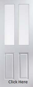 White Primed 2 Light  Obscure Glazed - Woodgrain - JW