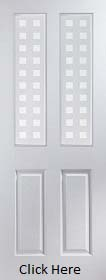 White Primed 2 Light Geometric Glazed  - Woodgrain - JW