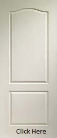 White Primed Classical 2 Panel - Woodgra...