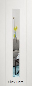 White Forli with Clear Glass - Pre Finished - XL