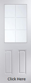 White Primed 6 Light Etch Glazed - Woodgrain - JW