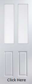 White Primed Atherton 2 Light Clear Glazed - Smooth - JW