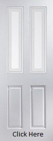 White Primed Bostonian Marginal Bar Glazed - Woodgrain - JW