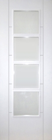 White Trend 4 Light with Clear Glass - Pre Finished - DG