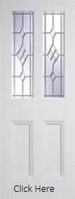 White Primed Malton with ABE Leaded Glass - Solid Core - LPD