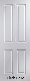 White Primed Oakfield Bifold - Woodgrain - JW