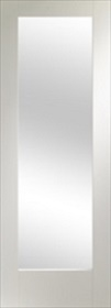 White Patt 10 with Obscure Glass -  Grained Surface - Pre Finished - DF
