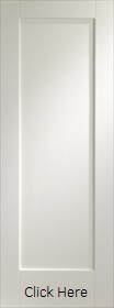 White Primed Shaker 1 Panel - Solid Core - LPD