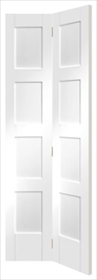 White Primed Shaker 4 Panel Bifold  - X