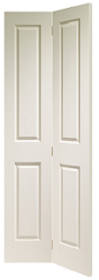 White Moulded 4 Panel Bi-fold - XL