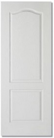 White Primed Classic 2 Panel Door - Premium Core - Grained Finish - MB