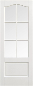 White Primed Kent with Clear Bevelled Glass - Solid Core - LP