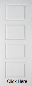 White Primed Textured 4 Panel Contempora...