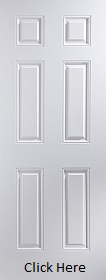 White Primed Arlington 6 Panel Door - Smooth - JW