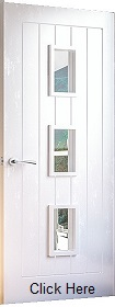 White Primed Ely - Clear Glass - Solid Core - DE