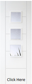 White Primed Trend / Vancouver 3 Light - Prime Plus - Clear Glass - DF
