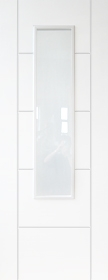 White Trend 1 Light - Pre Finished - Clear Glass - DF