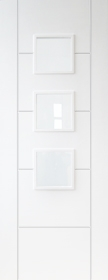 White Trend 3 Light - Pre Finished - Clear Glass - DF