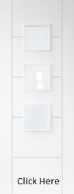 White Trend 3 Light - Primed + - Obscure Glass - DF