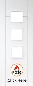 White Primed Trend / Vancouver 3L - Unglazed (No Glass) - FD30 - DF