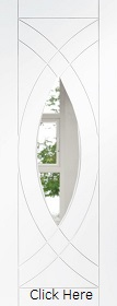 White Primed Treviso with Clear Glass - Semi Solid - XL