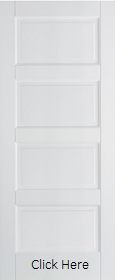 White Primed Moulded Textured Contempora...