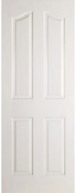 White Provincial 4 Panel Door - Standard Core - Grained Finish - MB