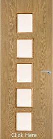 Oak Vertical 10G with Clear Glass Panels - Finished - P