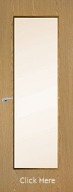 Oak Vertical 19G with Clear Glass Panel - Finished - P
