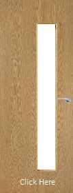 Oak Vertical 25G with Clear Glass Panels - Finished - P