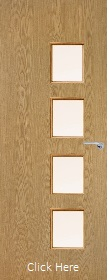 Oak Vertical 26G with Clear Glass Panels - Finished - P