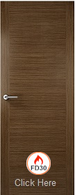 Walnut 2 Stile - FD30 - 44mm - Solid Core - Finished  - P