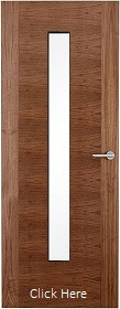 Walnut 2 Stile 29G with Clear Glass Panels - Finished