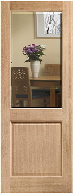 Oak 2XG - Clear Bevelled Glass - Unfinis...