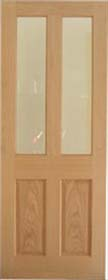 Oak Richmond with Clear Bevelled Glass - Pre Finished - LP