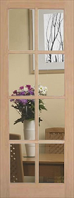 Oak 8L with Clear Bevelled Glass - Unfin...