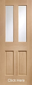 Oak Malton with Clear Bevelled Glass - Prefinished - XL