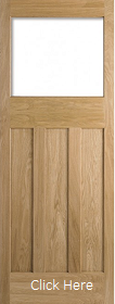 Oak DX 30s Style - Unglazed (No Glass) - Solid Core - Unfinished - LPD