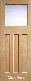 Oak DX 30s Style Frosted Glass - Solid Core - Unfinished - LPD
