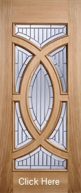 Oak Majestic - Zinc Clear Bevelled Glass...