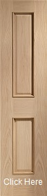 Oak Victorian 2 Panel with Raised Mouldings - Unfinished - XL