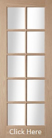 Oak Oregon 10 Light - Clear Glazed - Unfinished - JW