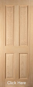 Oak Oregon 4 Panel - Flush Bead - Unfinished - JW