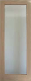 Oak Patt 10 with Clear Bevelled Glass  Unfinished DG
