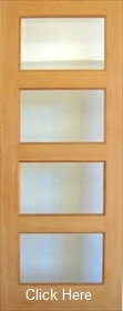 Oak Pattern 50 Mersey with Clear Bevelled Glass - Unfinished - DF