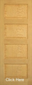 Oak Pattern 50 - Mersey Raised & Fielded Panels - Unfinished - DG