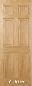 Oak Regency 6 Panel - Solid Core -  Pre Finished - LPD