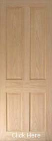Oak Regency 4 Panel - Solid Core - Pre Finished - LPD