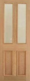 Oak Richmond RM2S - Clear Bevelled Glass - Raised Mouldings - Pre Finished - LP